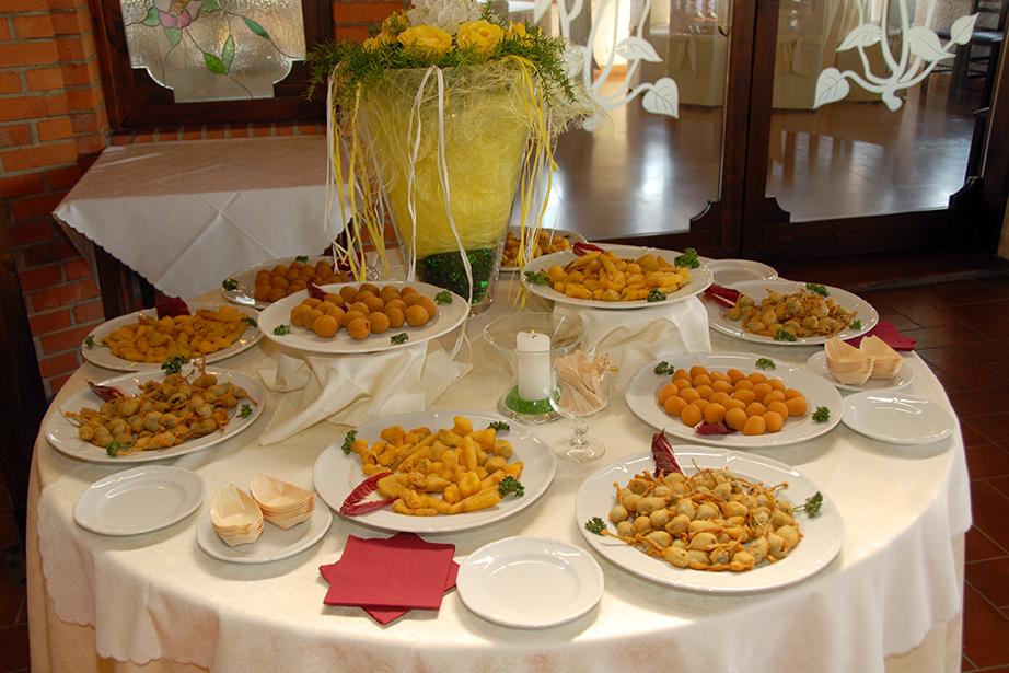 buffet di benvenuto, ristorante De Firem Rostec