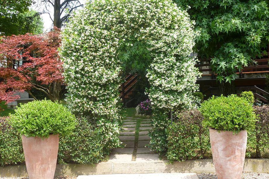 arco con fiori del Ristorante Dè Firem Rostec